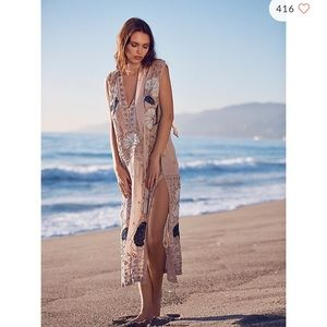 Free people pennies stuck on you beaded dress